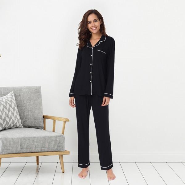Pajamas Two Piece Sleepwear with Pants--JJFSR18002CP-img