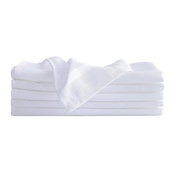 "17"" x 17"" Polyester Striped Cloth Napkins"