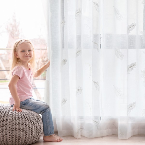Sheer Curtains 2 Panels with Grommets--CL1901PS-img