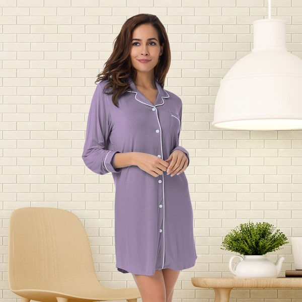 Long Sleeve Pajama Shirt--JJFSR18001CP-img
