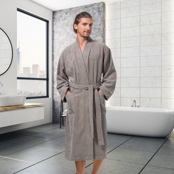 Terry Cotton Bathrobe Long Soft for Men--YP17005MCP-img