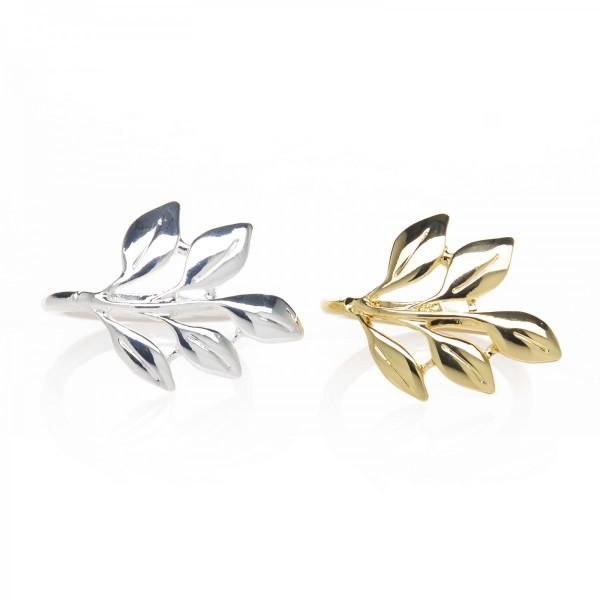 Madison Delicate Leaf Design Napkin Ring