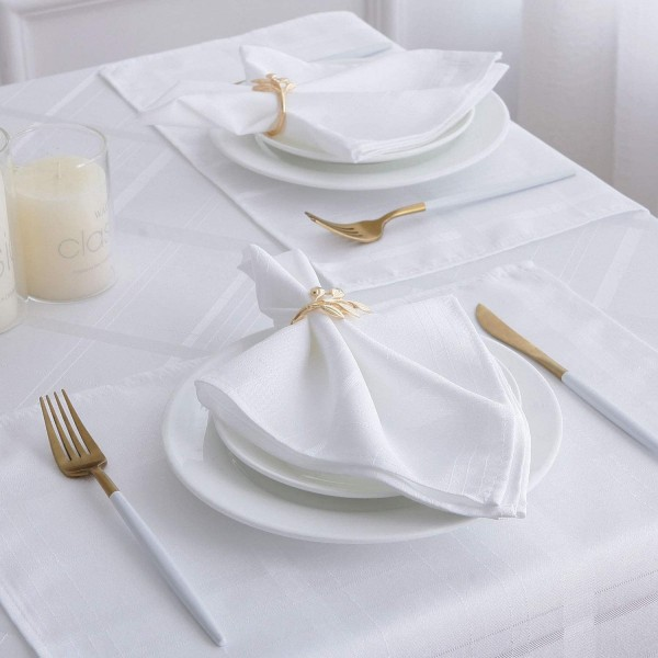 "17"" x 17"" Polyester Striped Cloth Napkins"