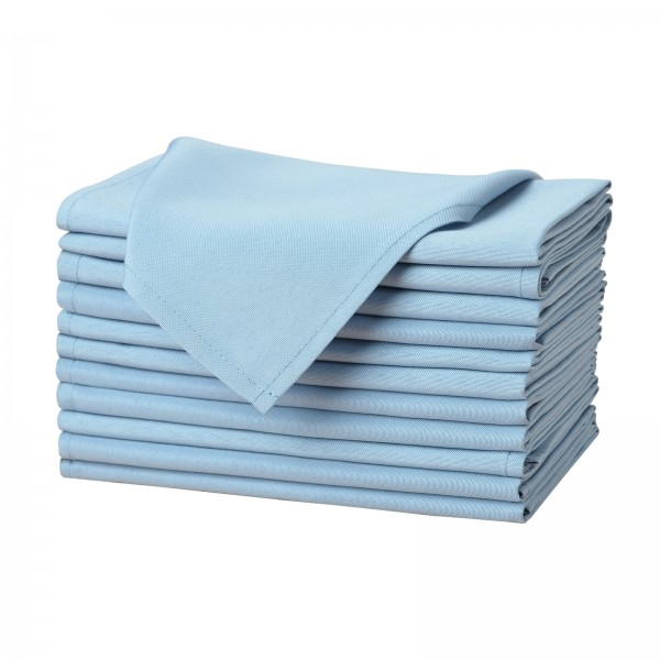 """17"""" x 17"""" Solid Polyester Cloth Napkins--KB1602PS17CP1S-img"""