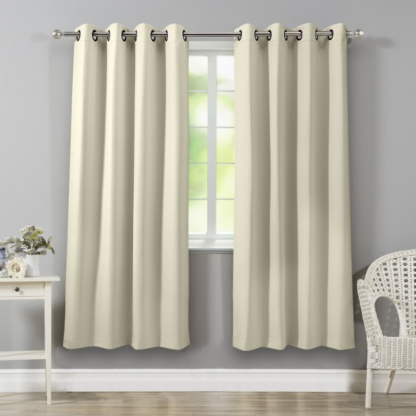 Blackout Curtains Grommet Top Thermal Insulated