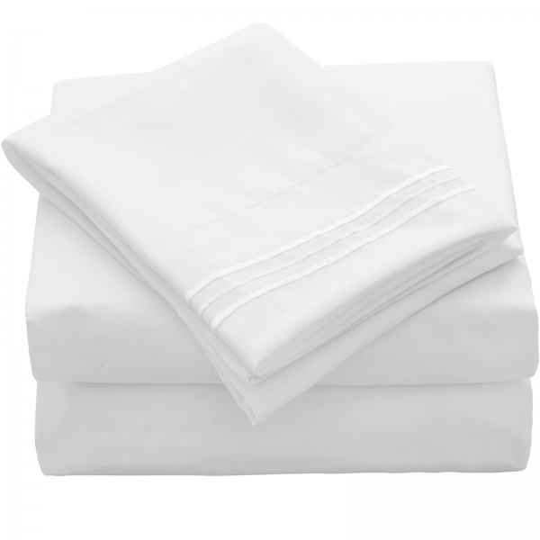 1800 Thread Count Soft Bed Sheet Set--CJ17001PS-img
